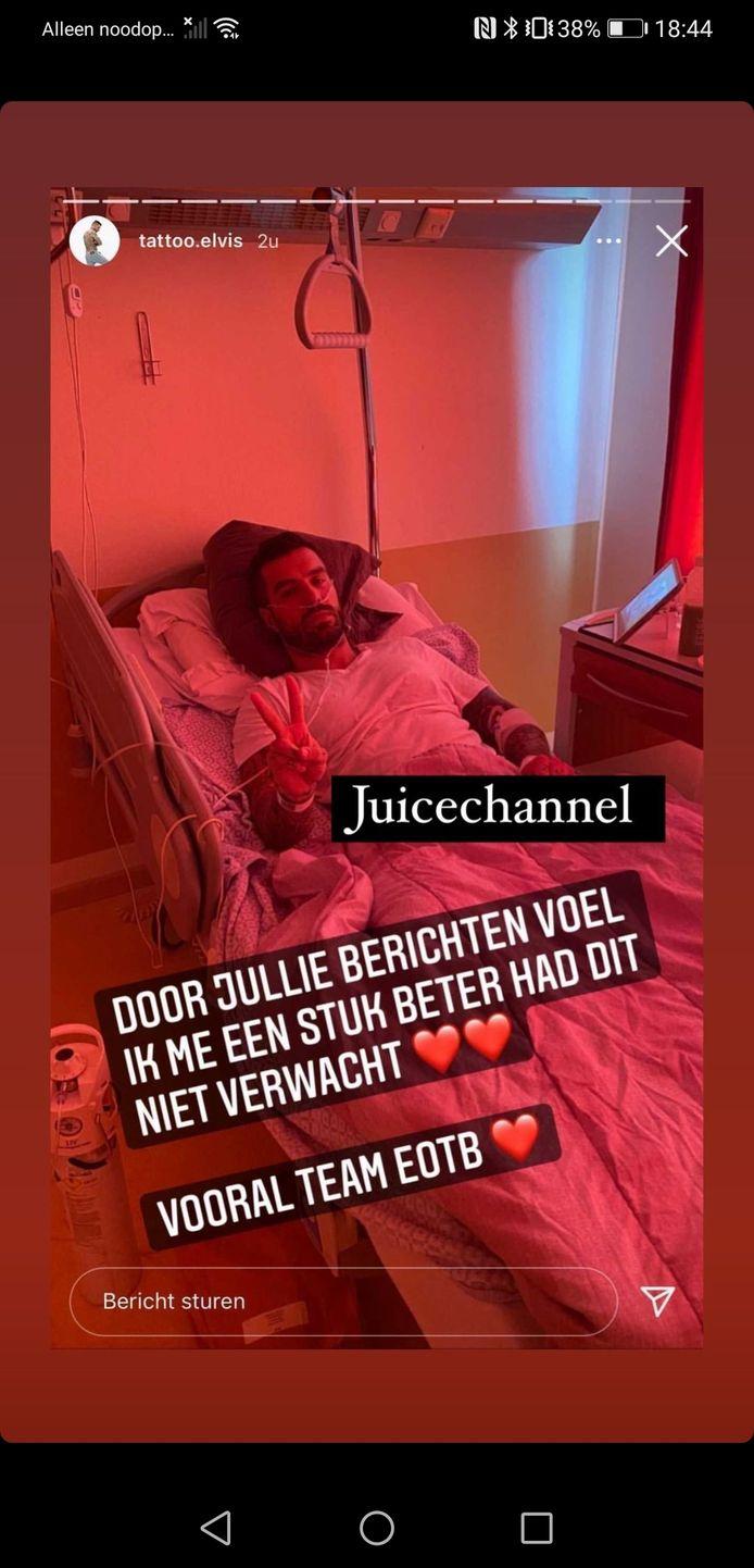 Sander uit het meest recente seizoen van 'Ex on the Beach: Double Dutch' raakte ernstig besmet met het coronavirus.