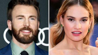 Chris Evans en Lily James vormen nieuwste Hollywoodkoppel