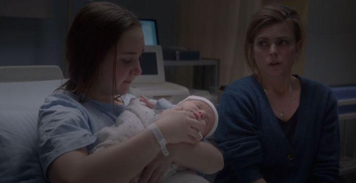 Demi, baby Tom en moeder Saskia in GTST.