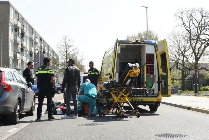 Bij een ongeval op de Marco Pololaan is een persoon gewond geraakt.