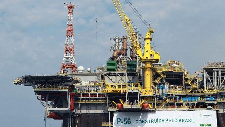 Petrobras nam begin deze maand haar nieuwste platform, P-56, in gebruik. Beeld afp