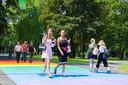 Regenboog zebrapad Valkenbergpark.