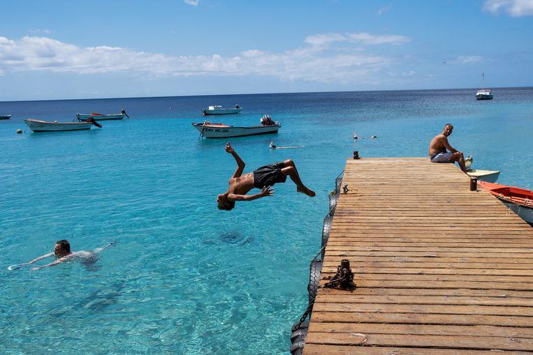 Curaçao 11 oktober 2020 Playa Piskado  Beeld Sabine Van Wechem