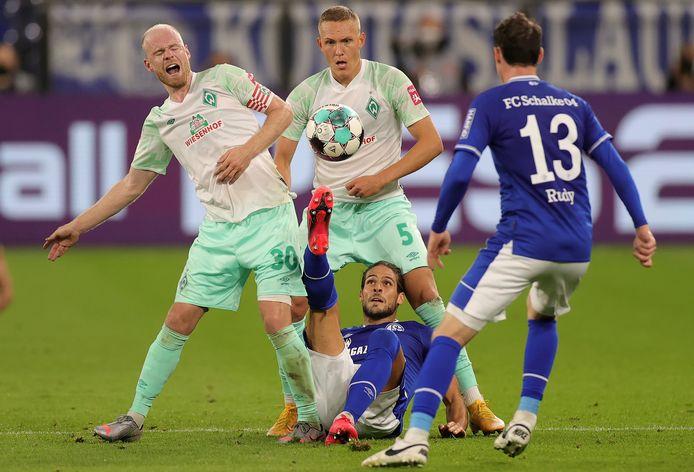 Davy Klaassen in actie tijdens Schalke 04 - Werder Bremen (1-3) afgelopen zaterdag.