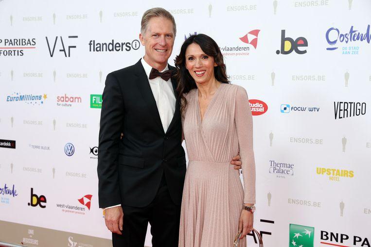 Sandra Bekkari met haar partner Peter Craeymeersch.