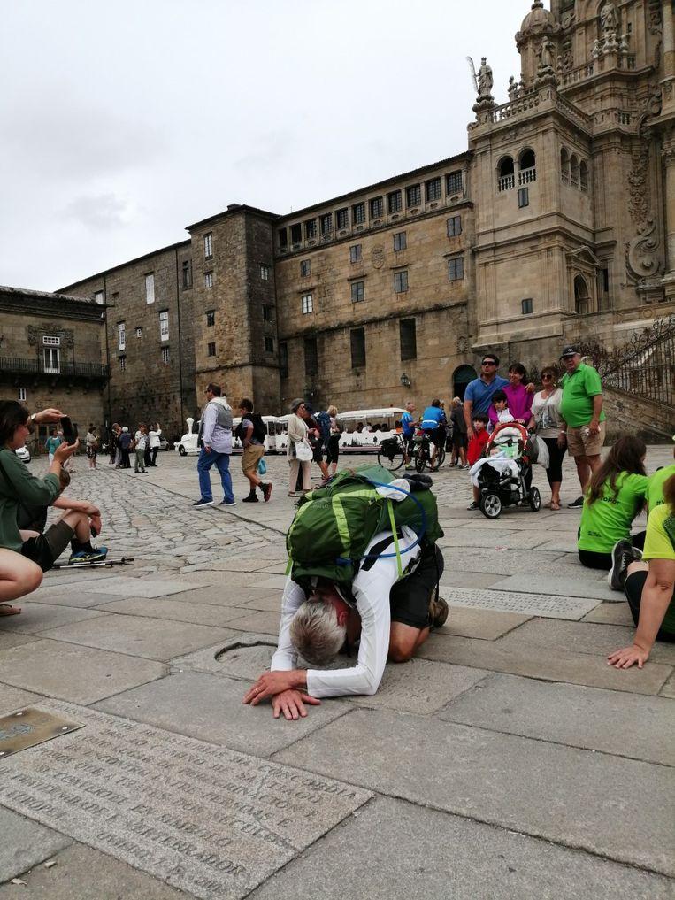 Patrick Roelands kwam donderdagmiddag aan in Santiago de Compostela.