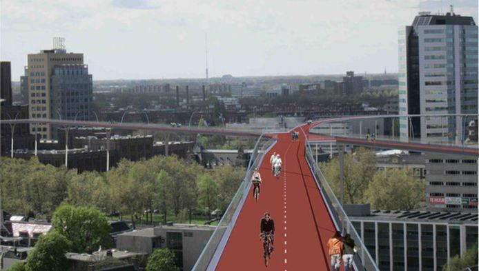 Zo ziet Bert Determeijer de Utrechters fietsen in de toekomst