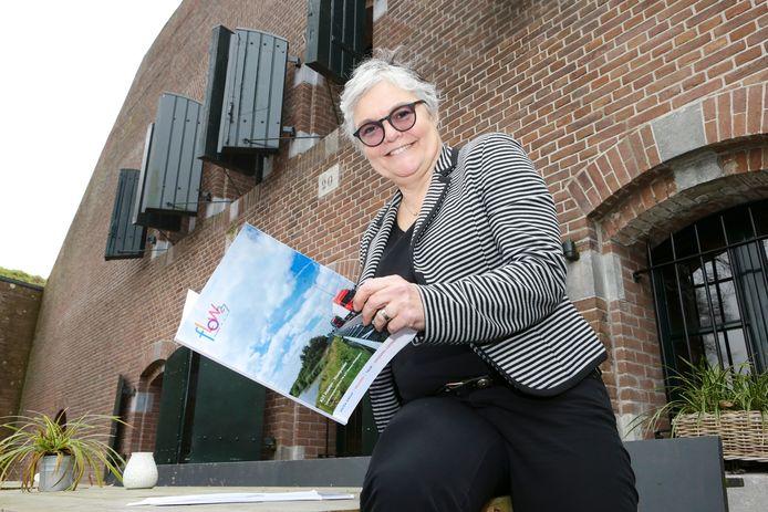 Marijke Wassens dacht mee over het herstel van het fort bij de verbreding van de A27.