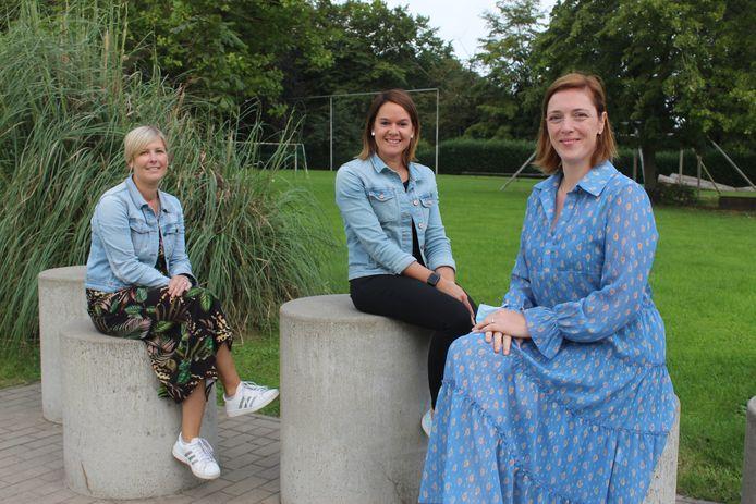 Lisa Tondat (rechts) met haar medewerksters Stephanie en Julie.