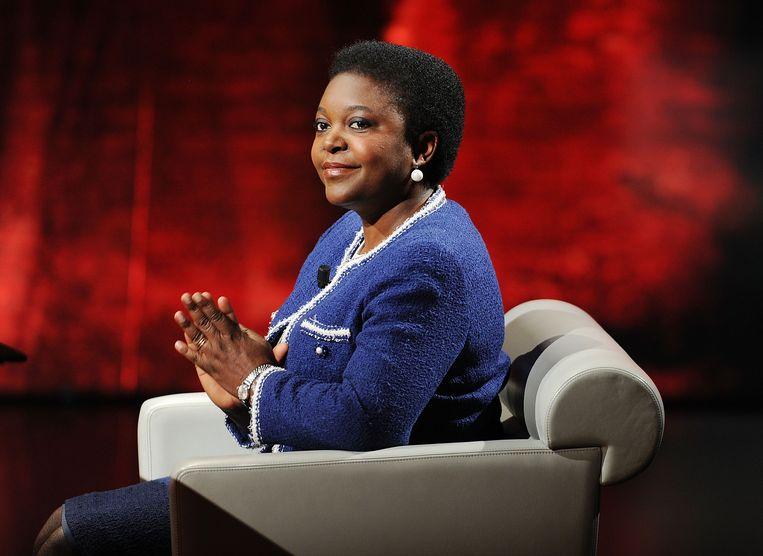 Cécile Kyenge is sinds de beëdiging van de rechts-populistische regering uitgegroeid tot een van de kopstukken van de oppositie. Beeld Getty