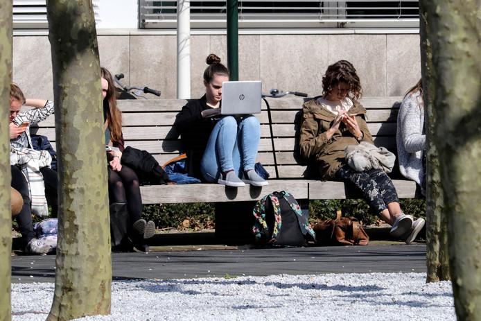 Studenten van de Radboud Universiteit in Nijmegen.