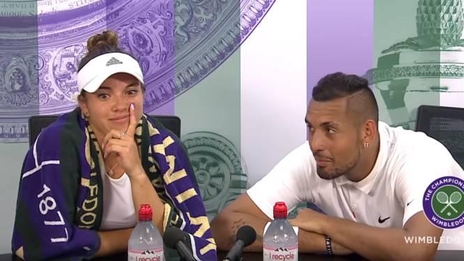 De microfoon staat aan, Kyrgios: 'bad boy' vraagt tennisster mee uit voor volle perszaal