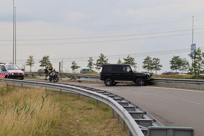 De verdachte crashte met zijn auto op de oprit van de A2 bij Breukelen.