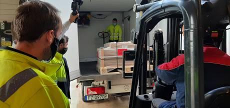 Eerste Janssen-vaccin afgeleverd bij Movianto in Oss