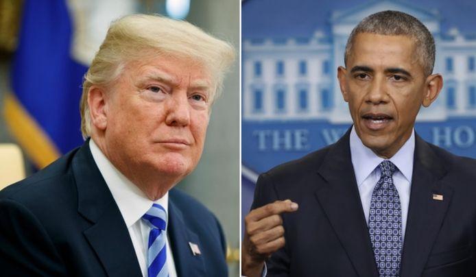 Donald Trump en Barack Obama