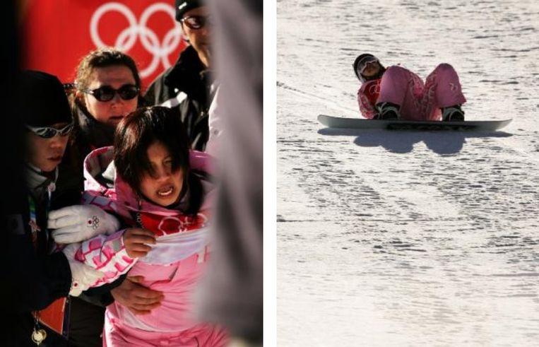 Melo Imai maakte in Turijn 2006 op haar 18de een lelijke val en werd half bewusteloos van de piste gedragen.