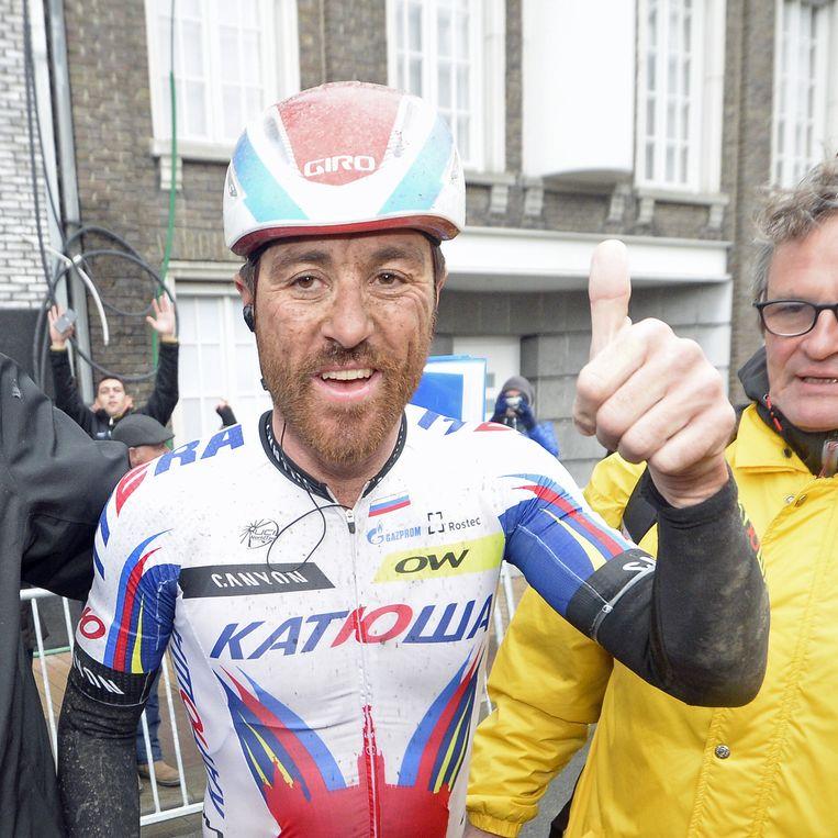 In Vlaanderen was de Milanees eerder succesvol met winst in de Brabantse Pijl 2004 en de Omloop Het Volk 2013 Beeld BELGA
