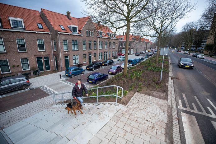 Een van de nieuwe opgangen naar de Havendijk in Schiedam.