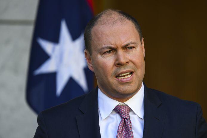 De Australische minister van Financiën Josh Frydenberg.