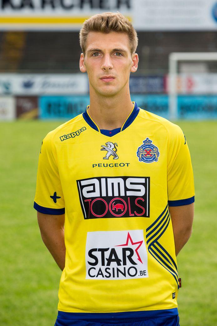 Niels de Pauw in 2015, tijdens de ploegpresentatie van Waasland-Beveren.