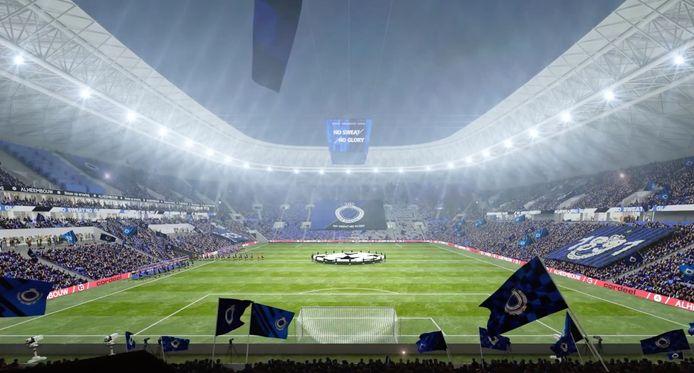 Un visuel du nouveau stade de Bruges