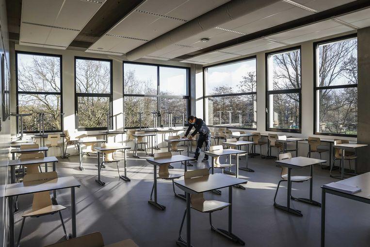Amsterdamse schoolleiders riepen vorige week op tot het snel heropenen van de scholen.  Beeld ANP