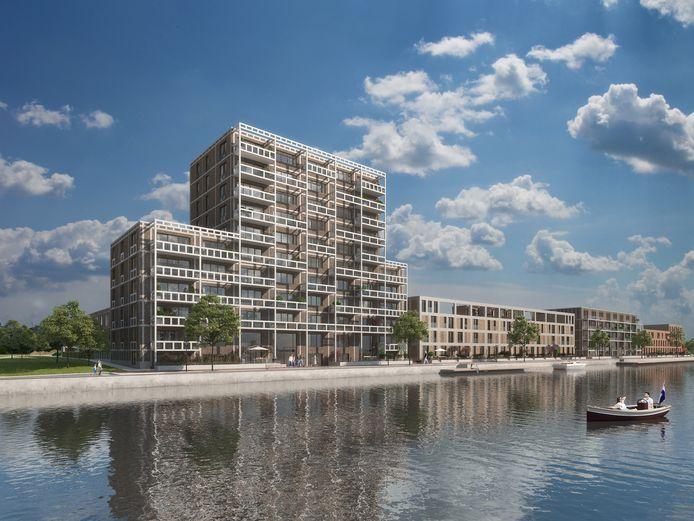 De bouw van appartementencomplex De Silo in Dronten gaat in juni van start.