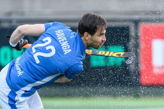 Martijn Havenga maakte gisteravond de 0-2 uit een strafcorner tegen Rotterdam.
