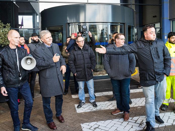 Eerder protest tegen de mogelijke nachtsluiting van de HAP in Alphen.