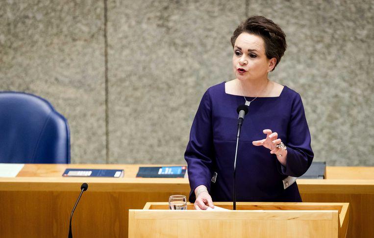 Staatssecretaris Alexandra van Huffelen van Financiën in de Tweede Kamer.   Beeld ANP