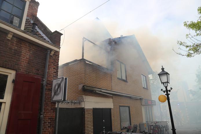 Brand in woning Parkweg in Voorburg.