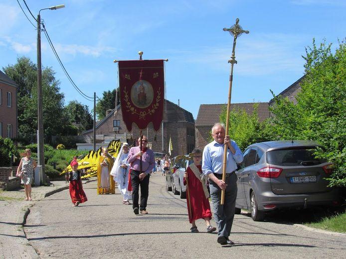 Bij een vorige processie in Hoxem