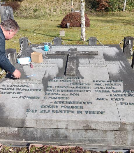 Opgeknapt monument voor Bergse slachtoffers van vliegende bom in 1945