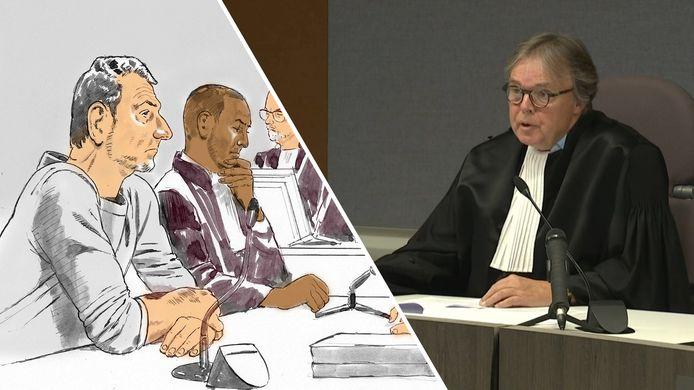 In de rechtbank is Jos Brech grootdeels zwijgzaam.