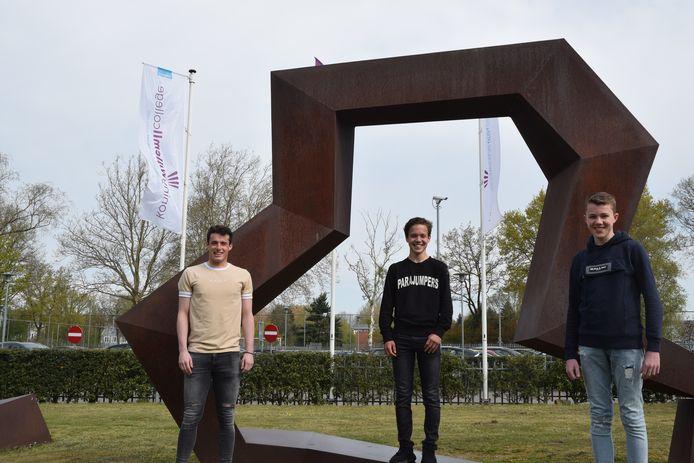 Genomineerden Mariska Lips Award 2021. Maarten Schut, Cas Tayeb en Joep Strooper (vlnr)