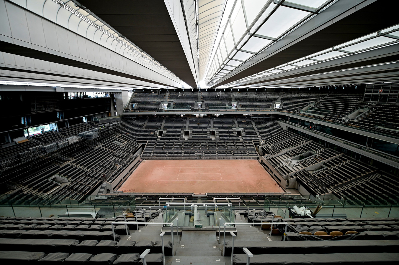 Le court central de Roland-Garros bénéficiera d'un toit rétractable lors de la prochaine édition du tournoi