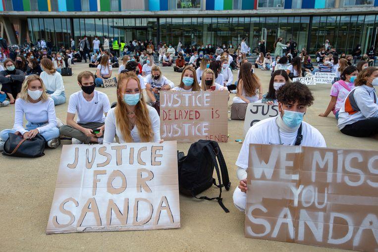 Stil protest voor Sanda Dia, september vorig jaar. Beeld BELGA