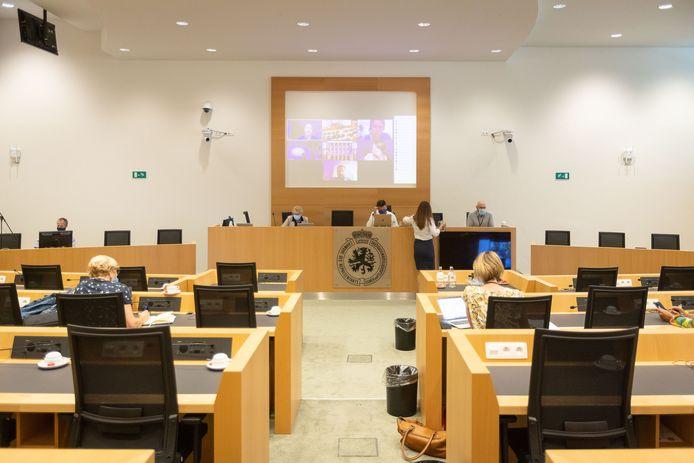 Séance de la commission spéciale covid au parlement ce mardi 15 juin.