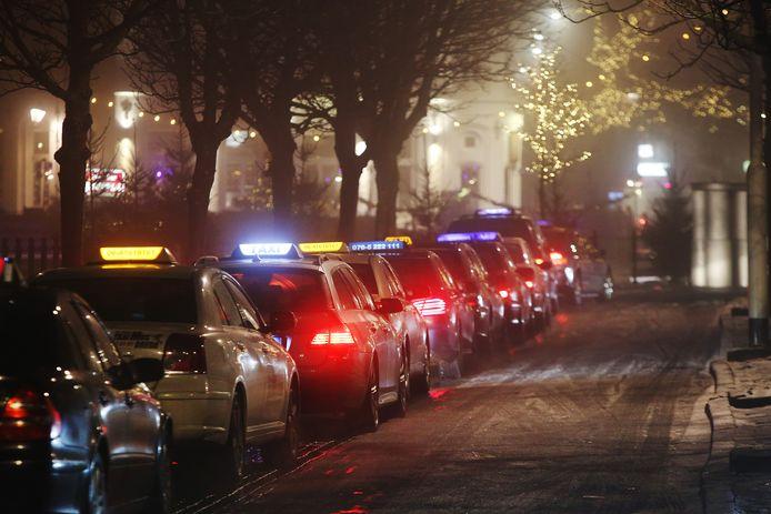 BREDA - Officiële taxi-standplaats bij het centrum van Breda aan de Nieuwe Prinsenkade.