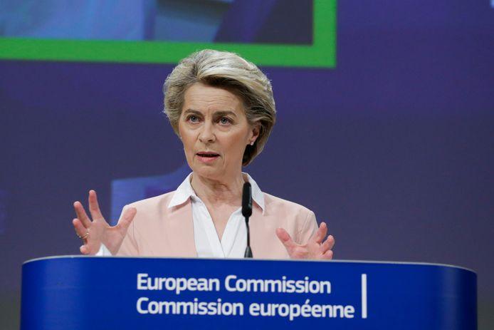 Commissievoorzitter Ursula von der Leyen.
