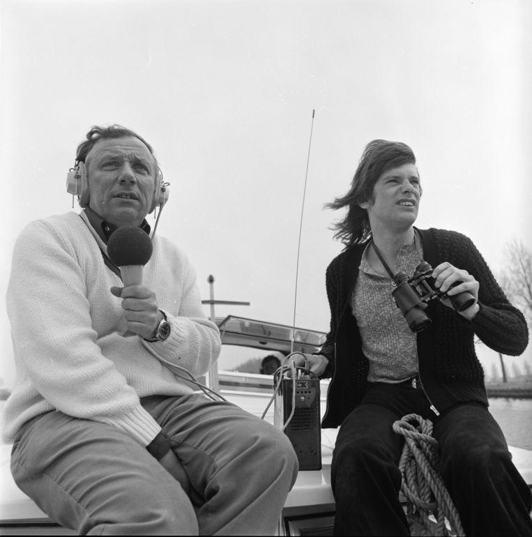 Frans van Dusschoten (links) Beeld Hollandse Hoogte / Nederlands Instituut voor Beeld en Geluid