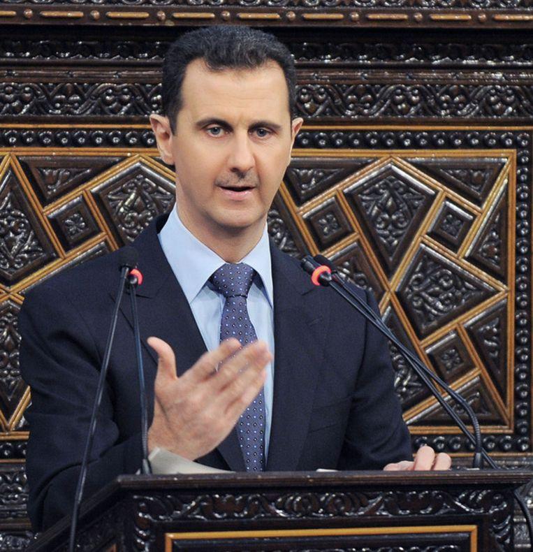 De Syrische president Bashar al-Assad. Beeld ap