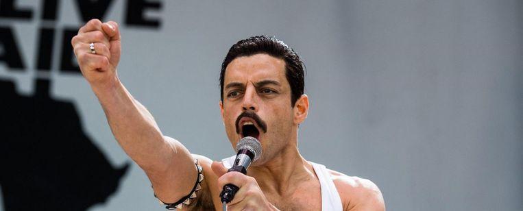 Rami Malek in Bohemian Rhapsody van Bryan Singer. Beeld
