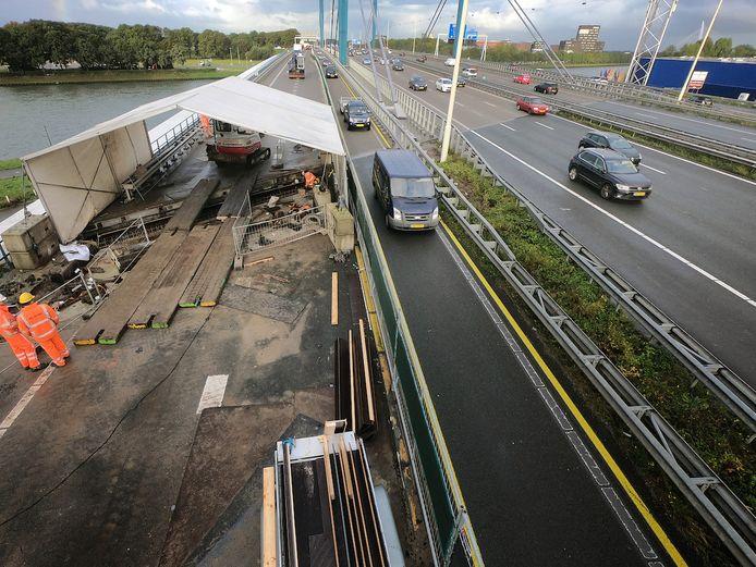 Werkzaamheden op A12 bij Galecopperbrug