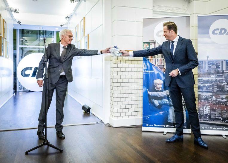 Lijsttrekker Hugo de Jonge op het partijbureau in Den Haag.  Beeld ANP