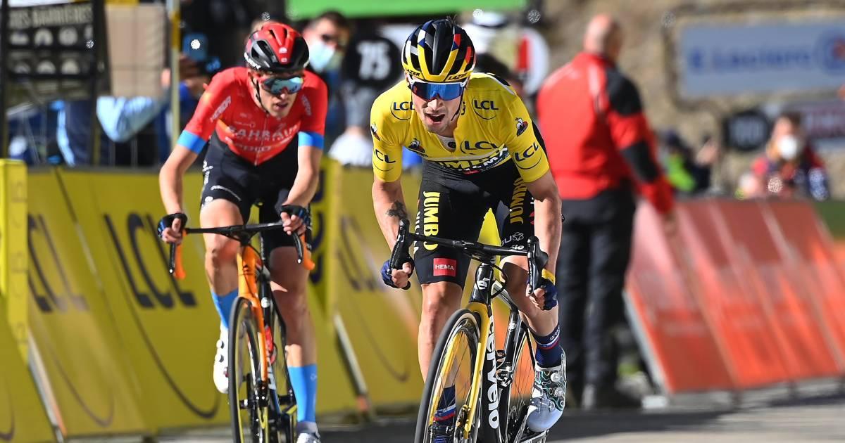Roglic klopt Mäder kort voor de finish en boekt derde etappezege in Parijs-Nice - AD.nl