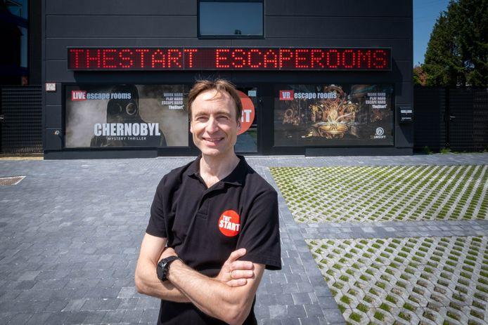 Benny Cockx van The Start escape rooms.