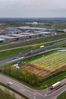 Tweede zonneveld in de maak in de oksel van de A15 bij Geldermalsen