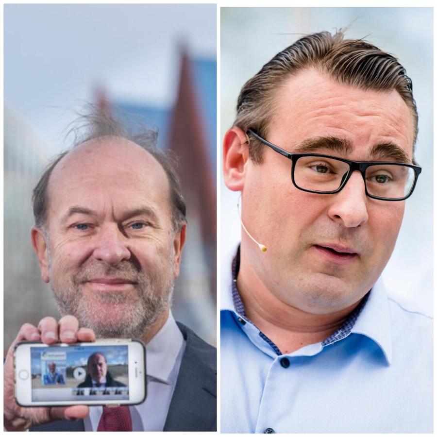 Burgemeesterskandidaten Bert Blase en Richard de Mos (vlnr)