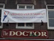 Wageningense horeca toont woede op Wageningen45 met spandoeken